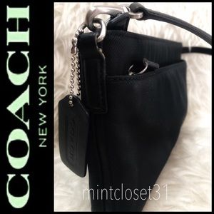 Coach Leather Trim Bag
